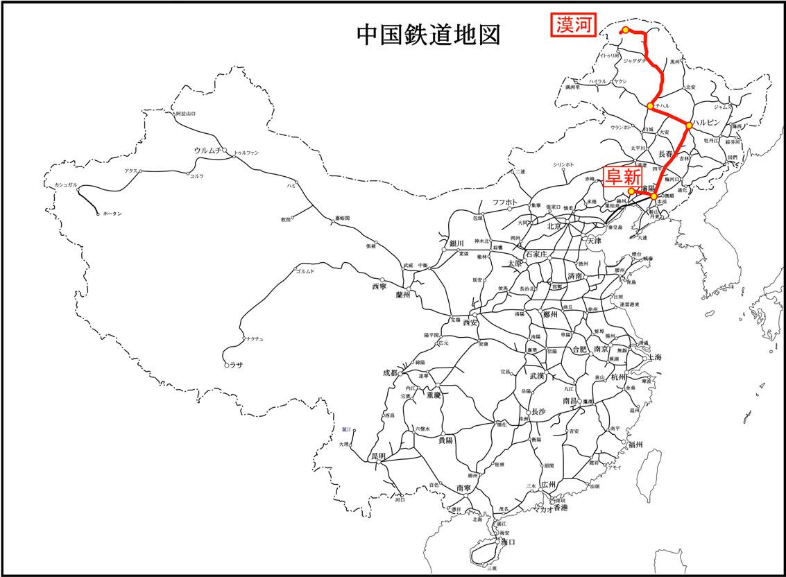 中国鉄路線_地図