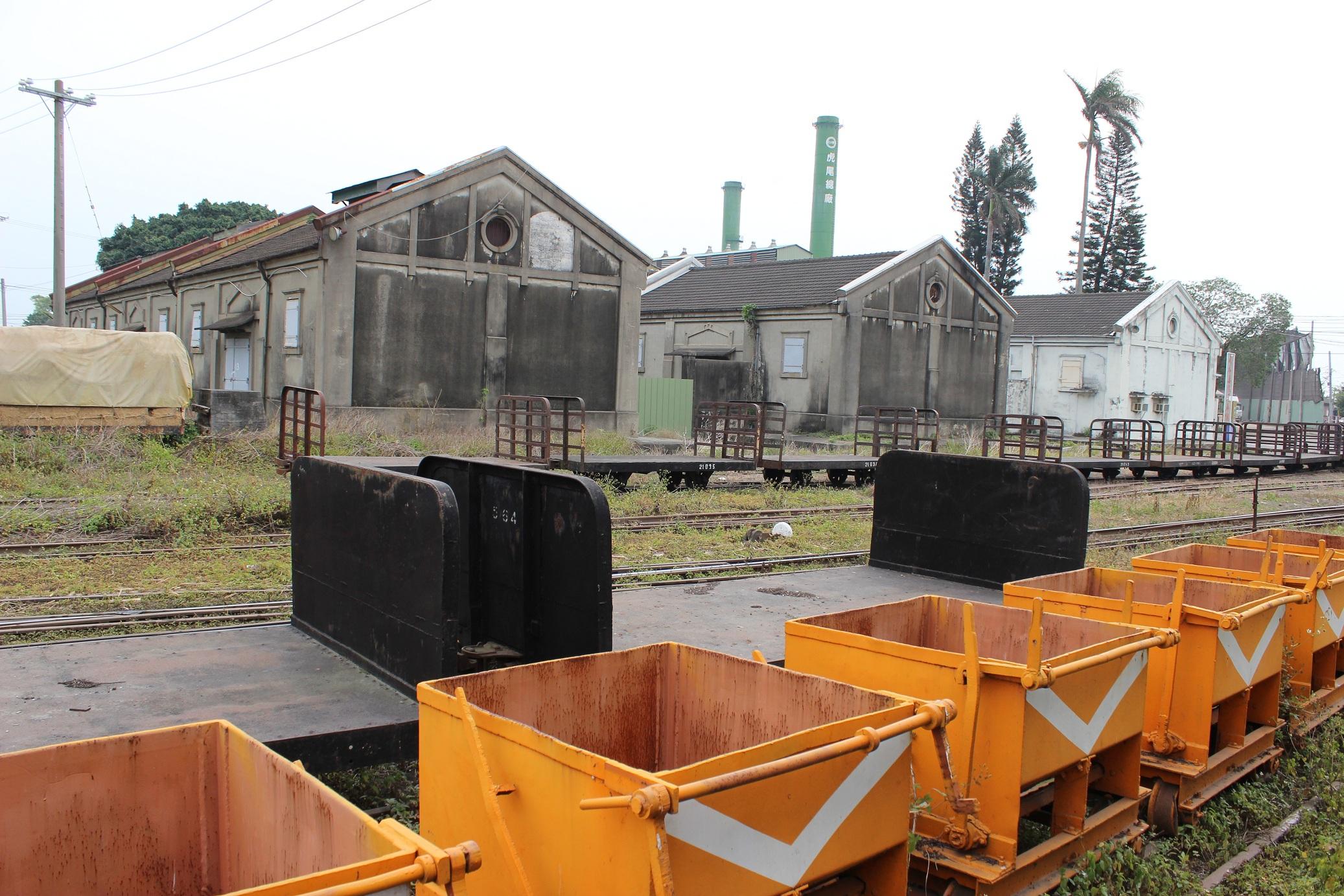 虎尾駅から見た糖廠のヤード