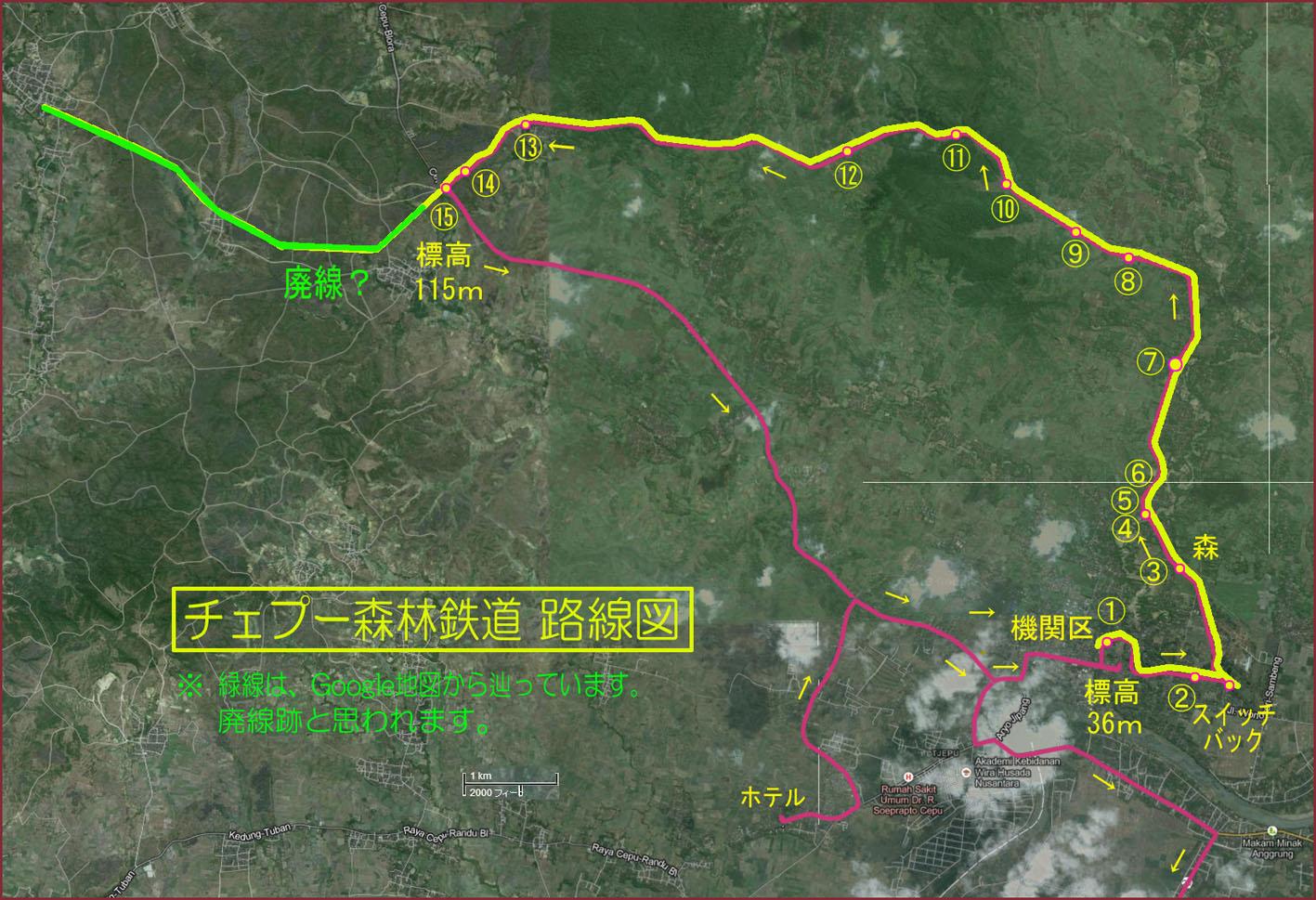 01_チェプー森林鉄道路線図