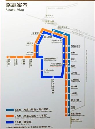 市内線路線図