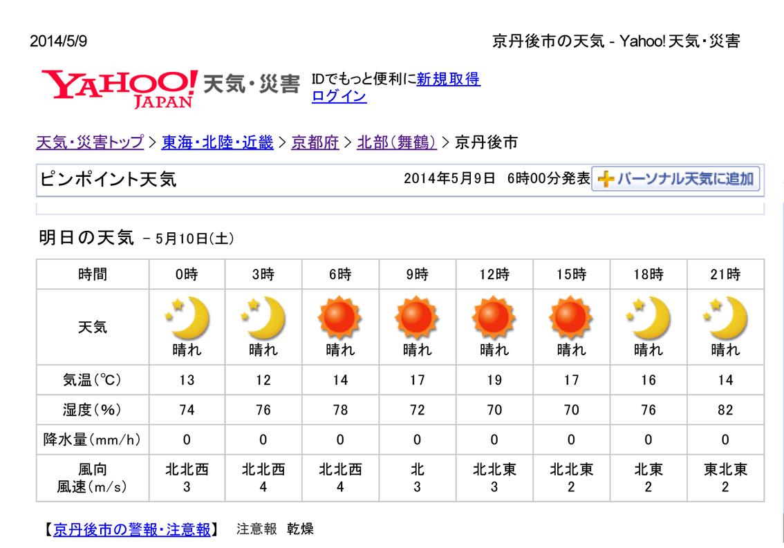 京丹後市の天気 - Yahoo!天気・災害