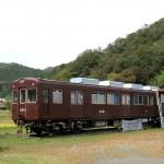 丹波の山中に阪急電車