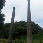 田川 2ヶ所の2本煙突