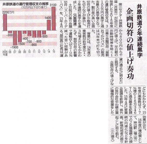平成28年5月27日 中国新聞朝刊