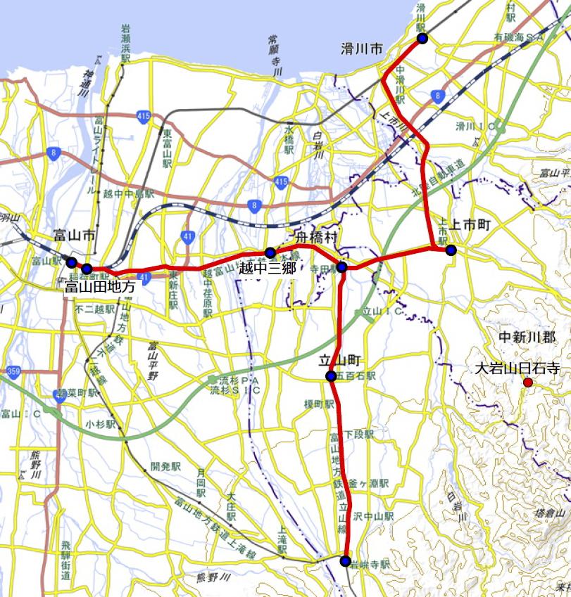 富山電鉄開業時