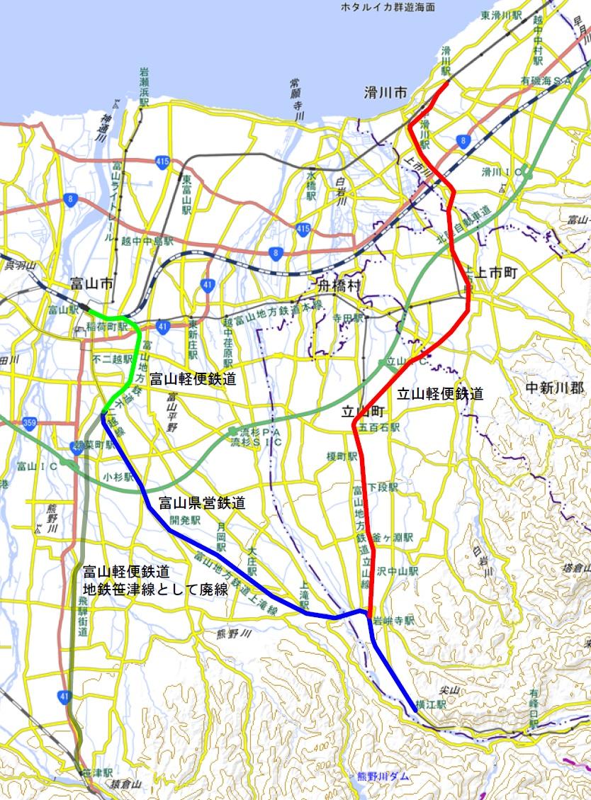 開業時の路線図