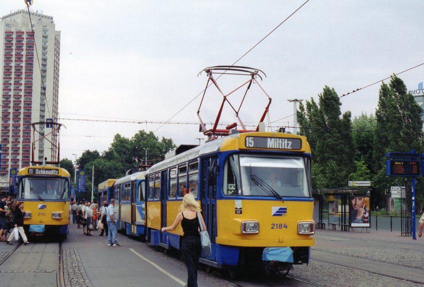 ライプチッヒ 人口494,000、ゲージ1458粍 T4D,1976年導入
